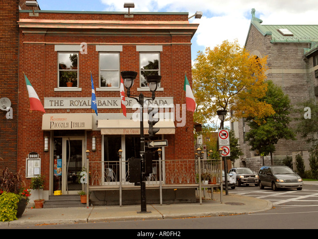 Saint Laurent boulevard in Little Italy Montreal Quebec Canada - Stock Image
