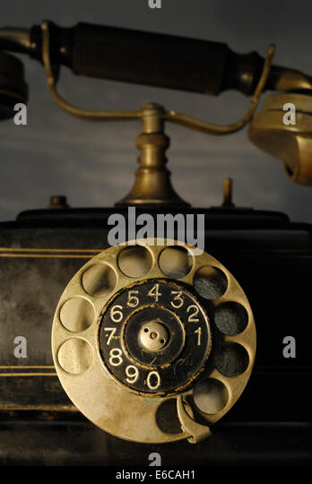 Antique telephone, (Ericsson 1928) - Stock Image