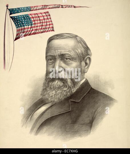 President Benjamin Harrison - Stock Image