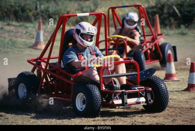 SPORT Motor Sport Go-Karting Go-kart racing. - Stock Image