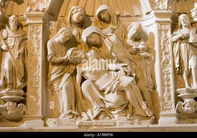 Crucified christ stock photos