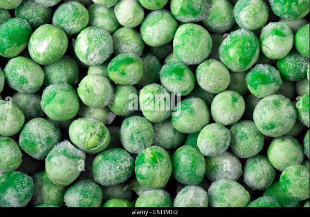 Frozen green peas. - Stock Image