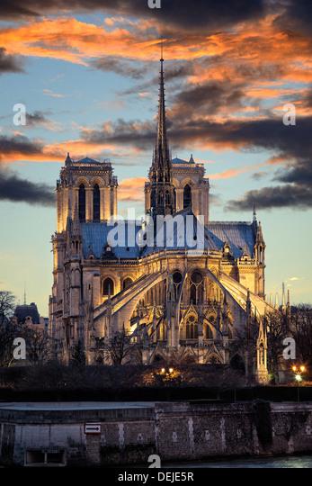 Notre Dame, Paris. - Stock Image