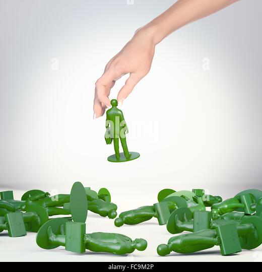 Toy businessman figures - success and carrier concept - Stock-Bilder