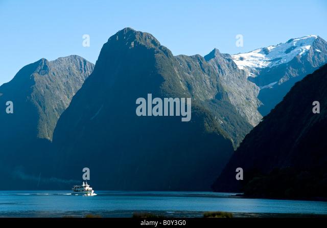 Milford Sound, Fjordland, South Island, New Zealand - Stock Image