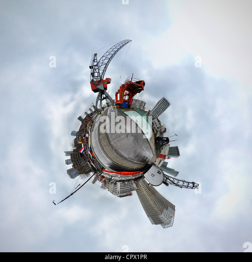 Rotterdam, Netherlands, little planet effect - Stock Image