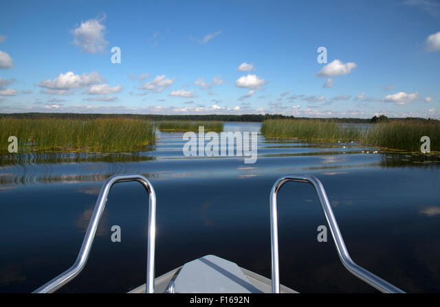 Boating in Finland - Stock Image