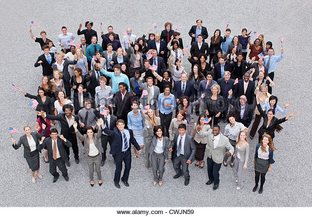 Crowd Waving Business People Stock Photos & Crowd Waving ...