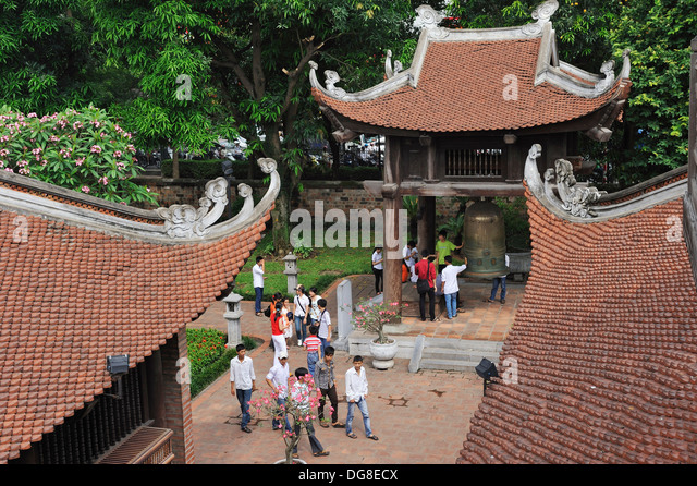 fourth courtyard, Temple of Literature, Hanoi, Northern Vietnam, southeast asia - Stock Image