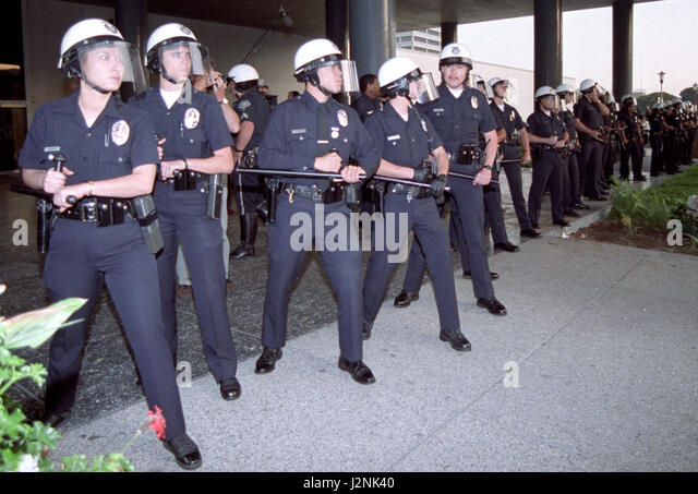 April 29/May 4 1992. Los Angeles CA. Coverage from the Los Angeles riots after the not guilty acquittal of policemen - Stock Image