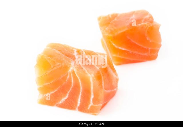 raw salmon fillet - Stock Image