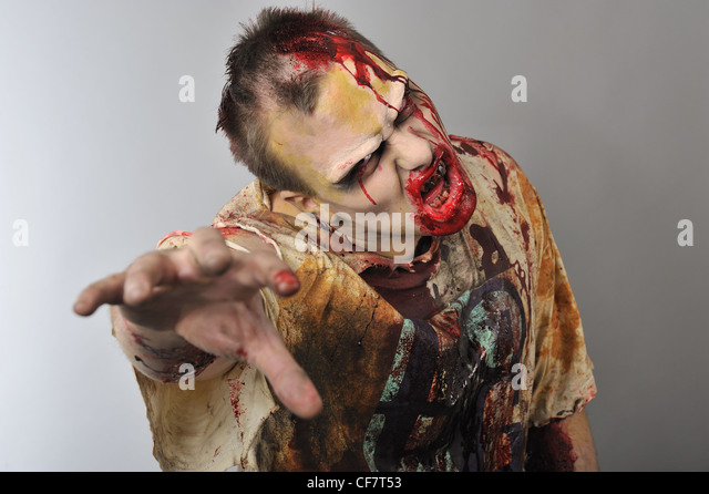 A zombie is reaching for you - Stock Image