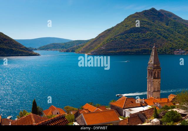 Perast, Bay of Kotor, UNESCO World Heritage Site, Montenegro - Stock Image