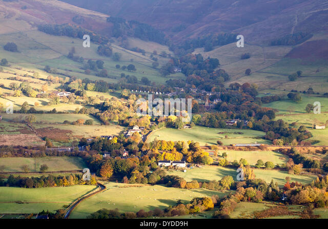 Autumn colours over Edale in the Peak District National Park. - Stock Image
