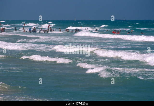 the beach of sidney ali in herzliya - Stock Image