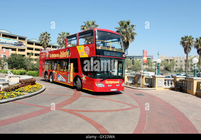 Sight seeing tourist bus, Johannesburg, South Africa, August 2016 - Stock Image