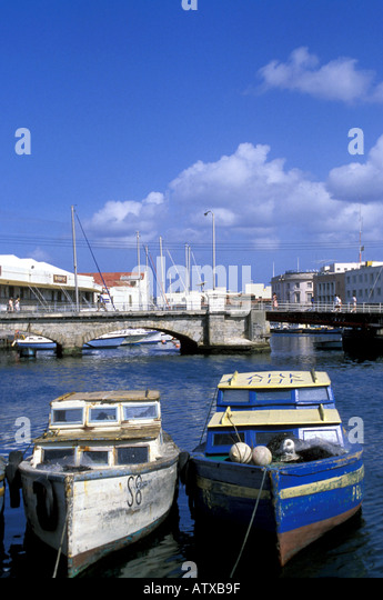 Barbados West Indies Caribbean Bridgetown Flying Fish Boats - Stock Image