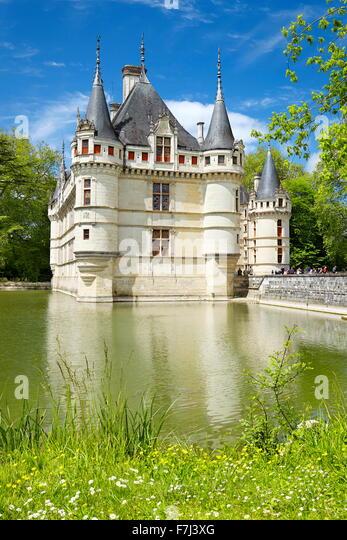 D'Azay-le-Rideau Castle, Loire Valley, France - Stock Image