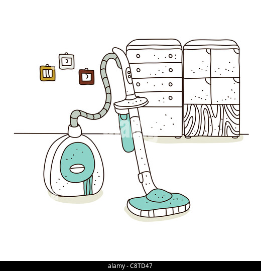 Illustration of vacuum cleaner - Stock Image