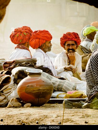 Rajasthan Camel Traders - Stock-Bilder