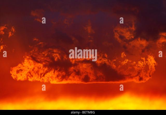 fiery glow burning sunset - photo #2