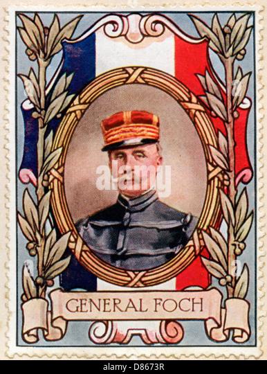 Gerard Foch Stamp - Stock Image