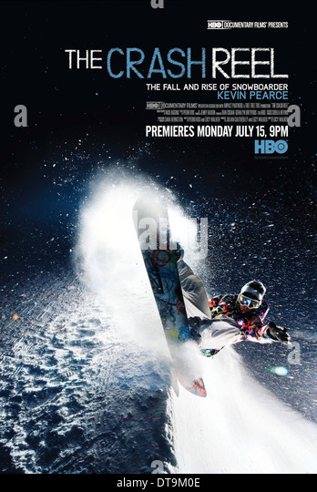 SNOWBOARDER POSTER THE CRASH REEL (2013) - Stock Image