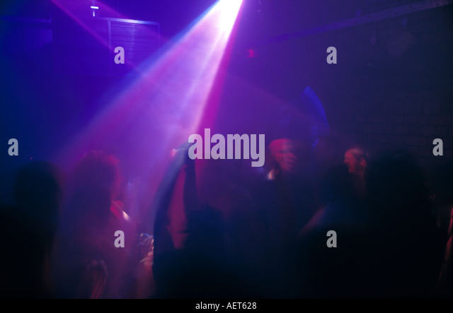 credit mandatory JOHN ANGERSON The light laser show at the fabric nightclub in London smithfield market area - Stock Image