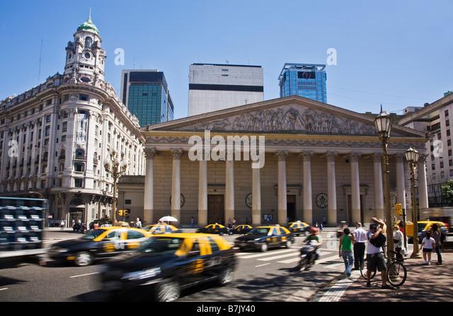 Metropolitan Cathedral Plaza de Mayo city centre Buenos Aires Argentina South America - Stock Image