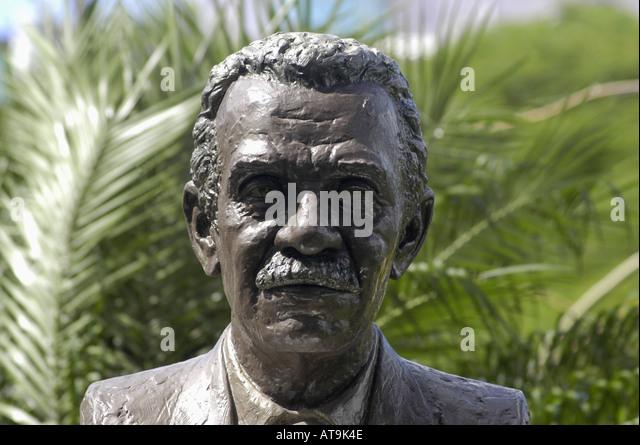 Castries St Lucia Nobel laureate for literature 1992 poet Derek Walcott statue - Stock Image