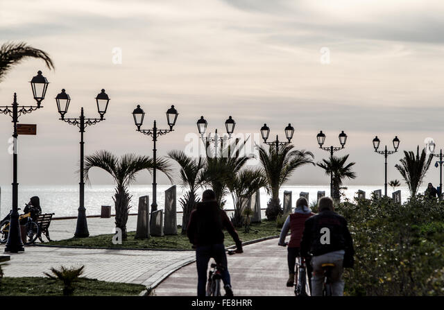 Sochi Promenade and Beach - Stock Image