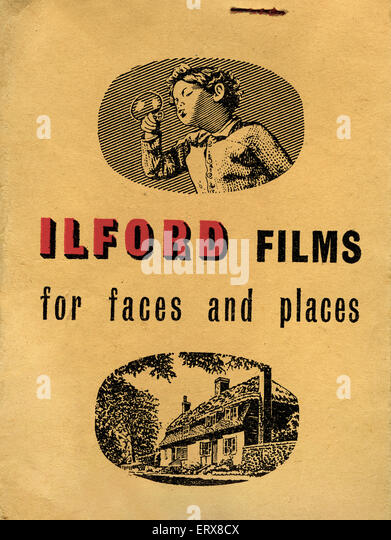 Ilford photo wallet - Stock Image
