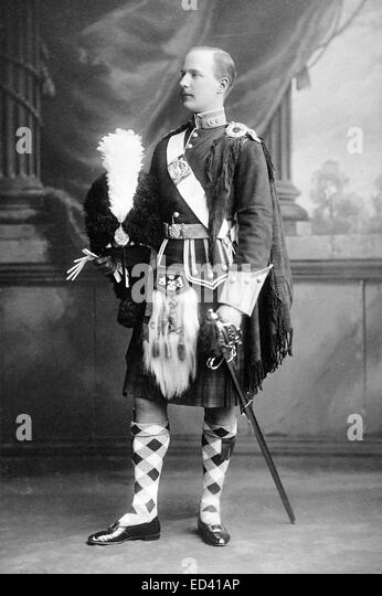 A Victorian Argyll and Sutherland Highlanders officer 1896. - Stock Image