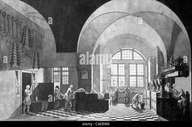 Pharmacy in the 18th Century - Stock Image