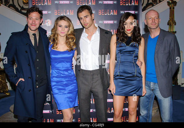 Will Young, Charlotte Salt, Theo James, Ashley Madekwe and Hugo Speer Bedlam TV show Launch at the British Acadamy - Stock Image