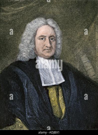 Sir Edmond Halley English astronomer - Stock Image