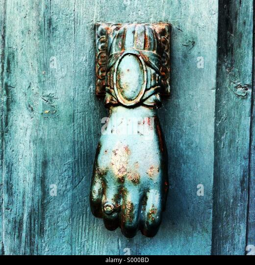 Hand knocker - Stock Image