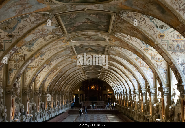 Antiquarian Hall of the Residenz or Royal Residence, Munich - Stock-Bilder