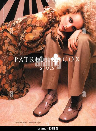 1990s UK Patrick Cox Magazine Advert - Stock Image