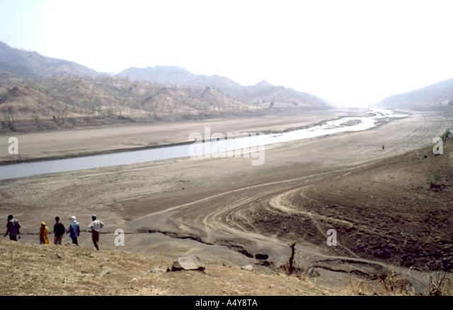 The Narmada River Gujarat India - Stock-Bilder