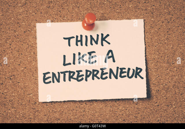 think like a entrepreneur - Stock-Bilder