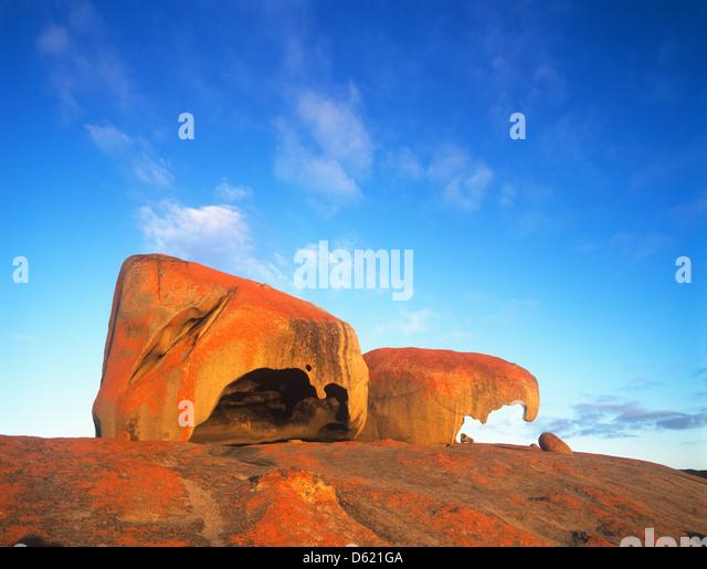 South Australia, Kangaroo Island, Flinders Chase National Park, view of Remarkable Rocks - Stock-Bilder