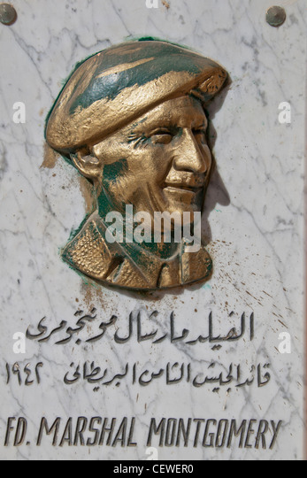 Egypt El Alamein Commonwealth Cemetery with memorial to British Field Marshal Bernard Law Montgomery - Stock Image