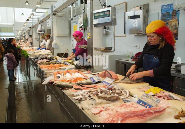 Cadiz market stock photos cadiz market stock images alamy for Central fish market