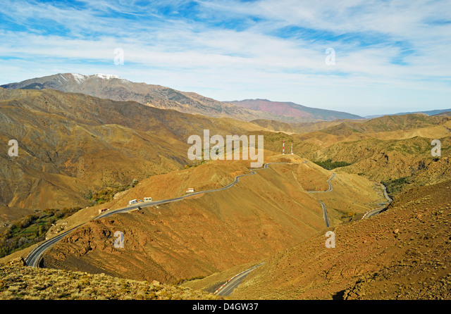 Tizi n'Tichka Pass, High Atlas, Morocco, North Africa - Stock Image