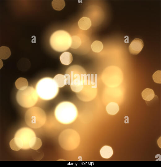Christmas sparkle background with stars and bokeh lights - Stock Image