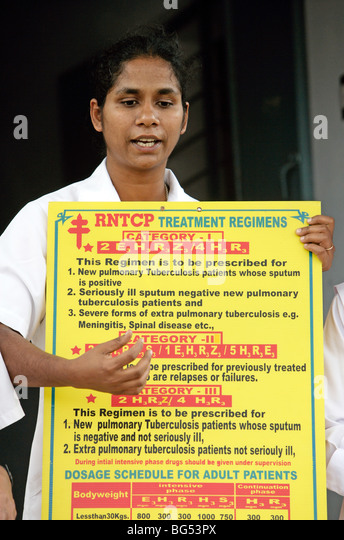 Health lessons by a sister nurse in India - Stock-Bilder