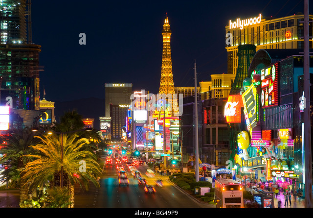 USA, Nevada, Las Vegas, The Strip - Stock Image