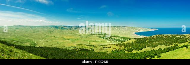 Mountain and sea  panorama - Stock Image