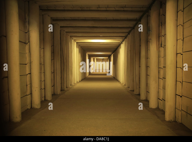 Old empty interior in the antique building - Stock Image